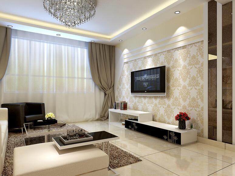 90平米大户型客厅电视背景墙装修效果图鉴赏