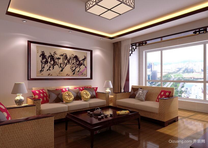 精致的现代小户型中式客厅装修效果图欣赏
