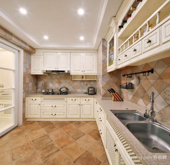 110平米大户型欧式厨房橱柜装修效果图鉴赏