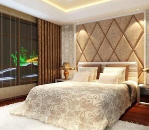 80平米欧式卧室软包背景墙装修效果图鉴赏