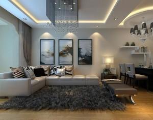大户型欧式客厅室内沙发背景墙装修效果图