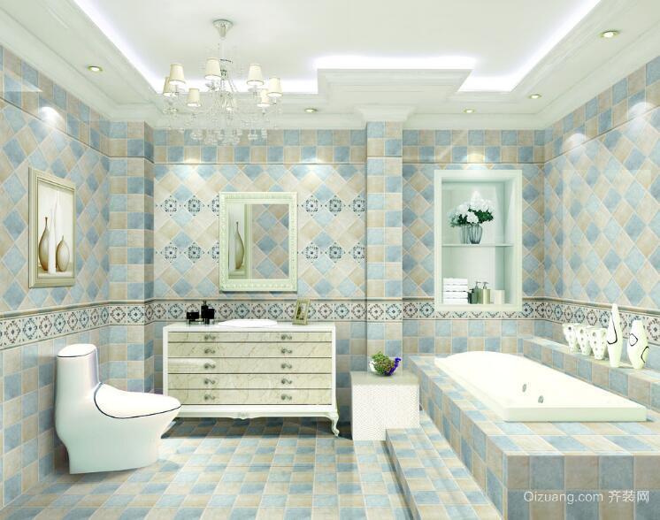 欧式现代别墅型精致浴室装修效果图鉴赏