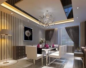 110平米大户型简欧餐厅吊顶装修效果图