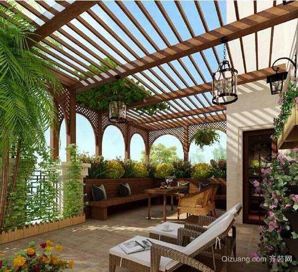 宜家精美的大户型阳台花园装修效果图鉴赏