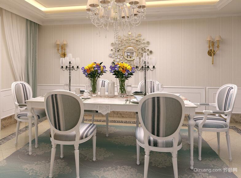 2016大户型简欧风格餐厅装修效果图实例