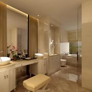 90平米大户型欧式洗手间室内装修效果图鉴赏