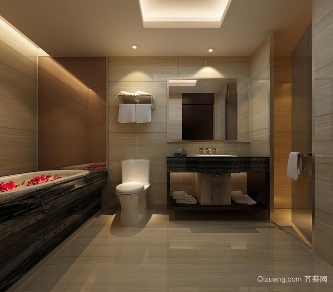别墅型精美的欧式卫生间设计装修效果图实例