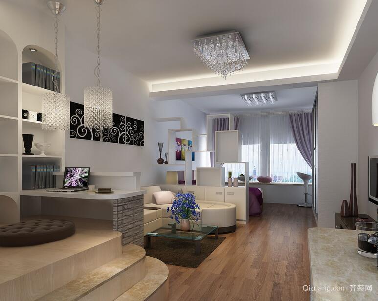 唯美精致的欧式单身公寓室内装修效果图