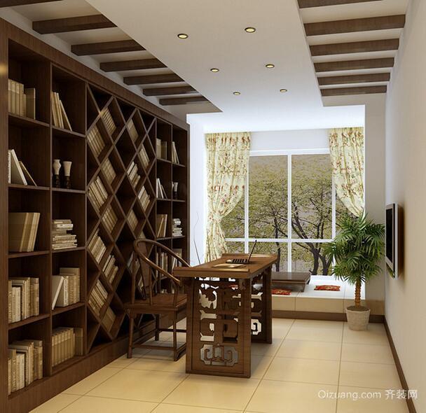 2016大户型现代简约书房设计装修效果图鉴赏