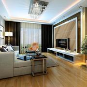 76平米欧式风格小户型客厅装修设计效果图