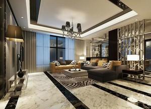2016别墅型后现代风格客厅装修效果图鉴赏