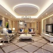 精致的现代欧式复式楼客厅装修效果图
