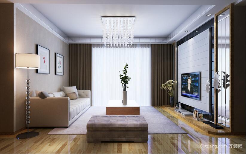 95平米大户型完美欧式客厅吊顶装修效果图