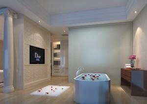100平米别墅型欧式浴室背景墙装修效果图