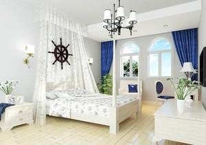 大户型地中海风格儿童房背景墙装修效果图