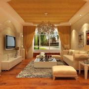 都市100平米欧式大户型房子客厅装修效果图