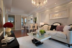 完美欧式大户型客厅装修样板间效果图