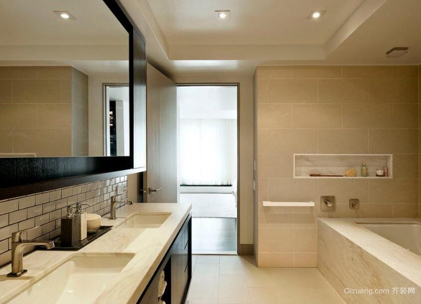大户型现代欧式洗手间吊顶装修效果图