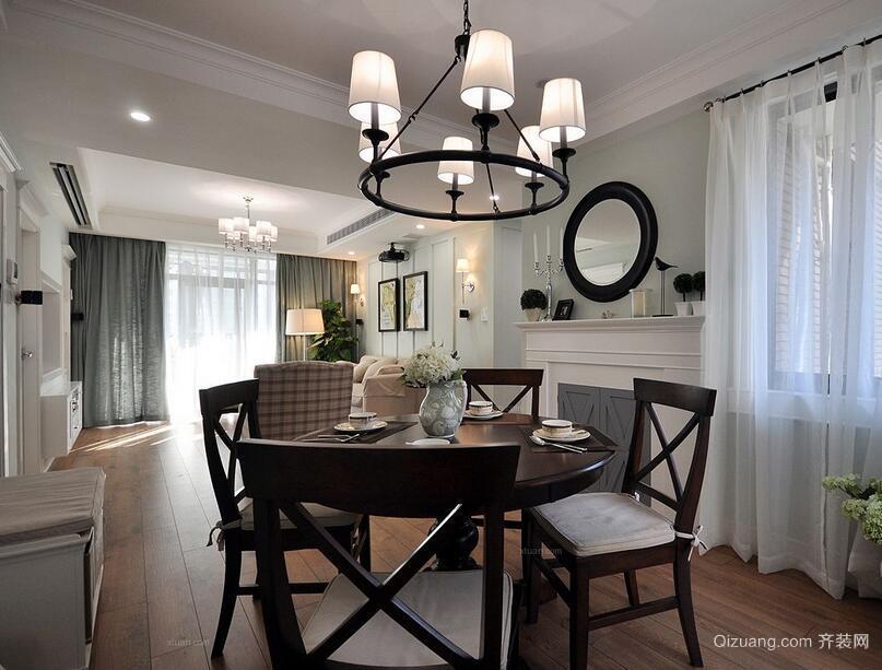 99平米大户型美式风格家庭餐厅装修效果图