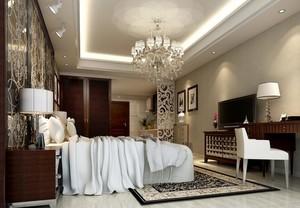 欧式风格唯美的单身公寓卧室装修效果图