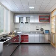 欧式别墅型不锈钢橱柜装修效果图鉴赏