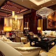 120平米大户型精致欧式客厅装修效果图鉴赏