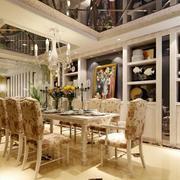 现代大户型欧式餐厅吊顶装修效果图实例