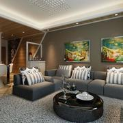 2016时尚的现代简约客厅室内装修效果图