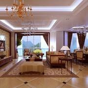 100平米欧式客厅室内房屋装修效果图