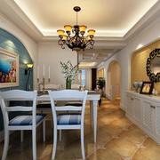 唯美大户型地中海风格餐厅装修效果图实例