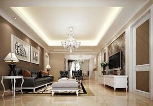120平米大户型欧式客厅装修效果图实例
