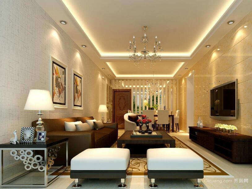 2016精致的欧式别墅型客厅装修效果图欣赏