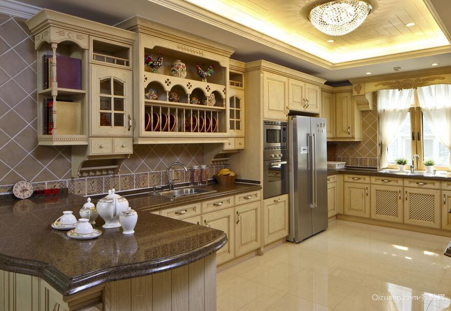 现代欧式大户型时尚厨房装修效果图鉴赏