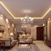 120平米高贵典雅欧式客厅装修效果图实例