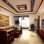 2016大户型完美的中式客厅装修效果图
