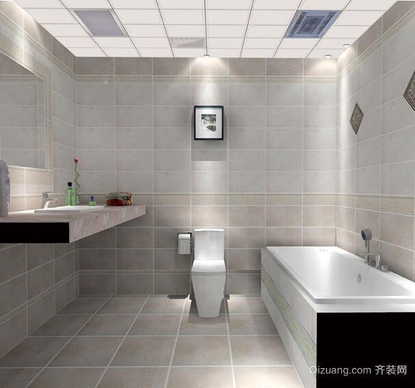 2016欧式别墅型现代卫生间吊顶装修效果图