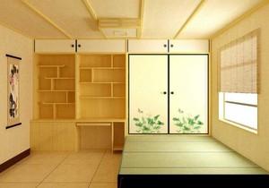 经典舒适大户型日式卧室榻榻米装修效果图