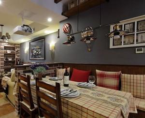 别墅美式装修风格样板房餐厅吊顶装修效果图