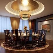 120平米别墅欧式餐厅装修效果图实例