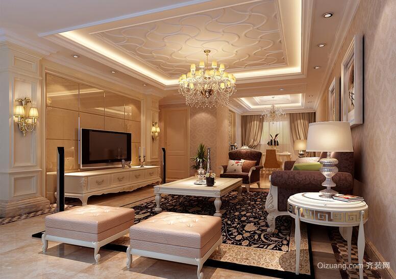 现代欧式别墅型客厅装修效果图实例