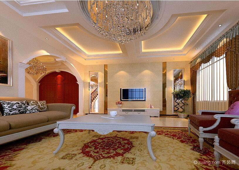 98平米大户型客厅电视背景墙装修效果图鉴赏