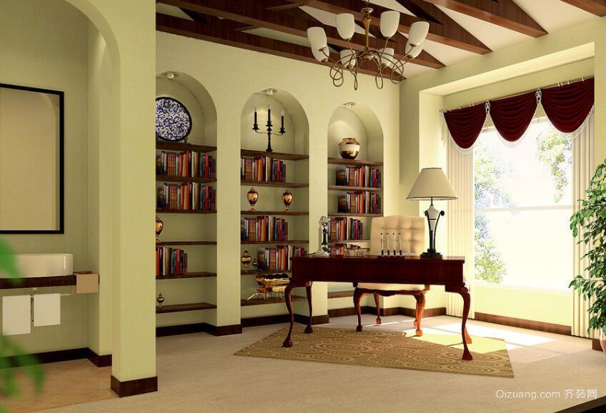 90平米大户型完美精致书房吊顶装修效果图鉴赏