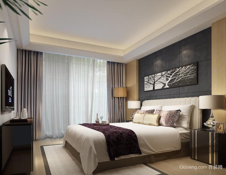 欧式风格大户型经典卧室背景墙装修效果图