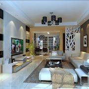 2016欧式经典的别墅型客厅装修效果图欣赏