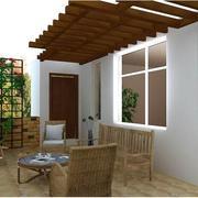 70平米现代小户型阳台装修效果图实例