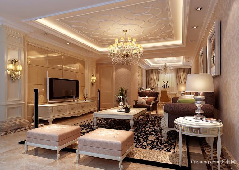 100平米经典的欧式客厅装修效果图鉴赏