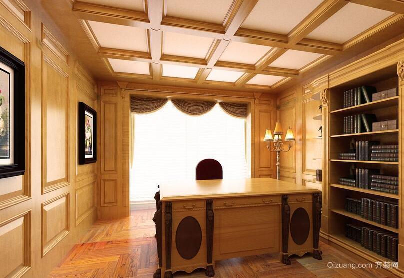 2016温暖大户型现代书房装修效果图鉴赏