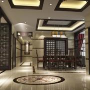2016精致的别墅型中式餐厅装修效果图