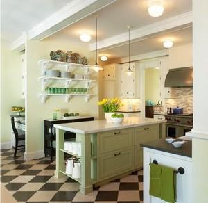 别墅美式装修风格样板房厨房装修效果图鉴赏
