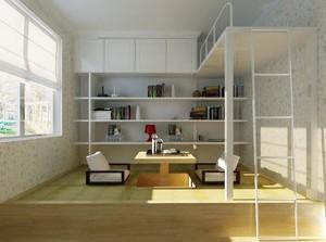 现代轻快都市大户型榻榻米卧室装修效果图